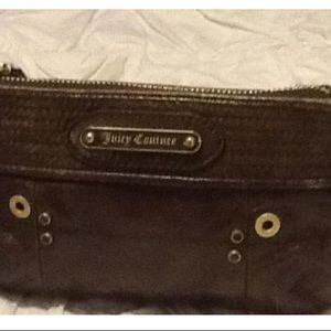 Juicy Couture Bags - Juicy Couture Leather wristlet in Olive Green